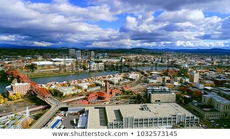 Steel Bridge Oregon Street Willamette River Downtown Portland Stock photo © cboswell