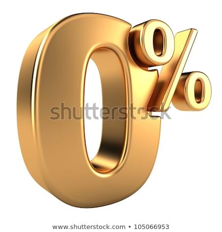 Gold Zero Percent Stock photo © Oakozhan
