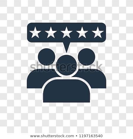 ícones satisfação do cliente positivo neutro negativo isolado Foto stock © Oakozhan
