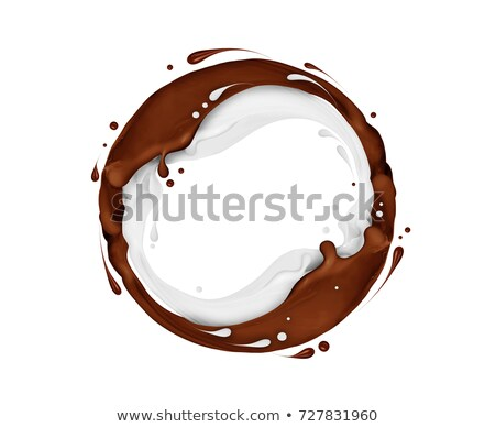 Splashes of joining chocolate and milk liquids Stock photo © LoopAll