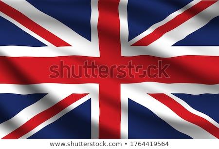 Seda union jack britânico bandeira azul branco Foto stock © Bigalbaloo