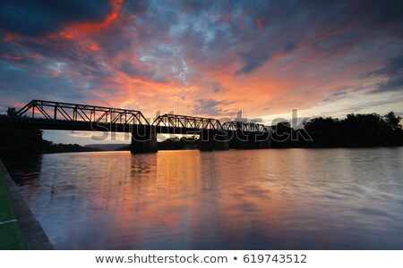 Summer sunset Nepean River Penrith Stock photo © lovleah