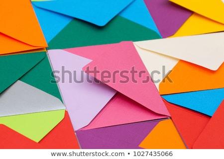 Diferente tabela branco amarelo caneta aniversário Foto stock © CaptureLight