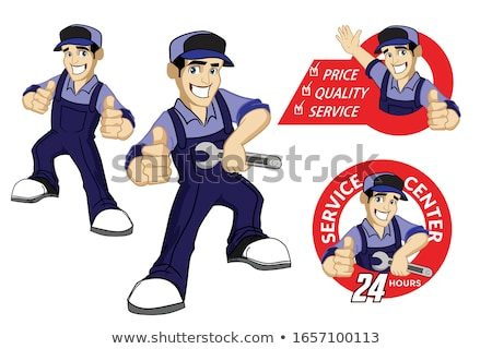 builder giving thumb up vector illustration stock photo © rastudio