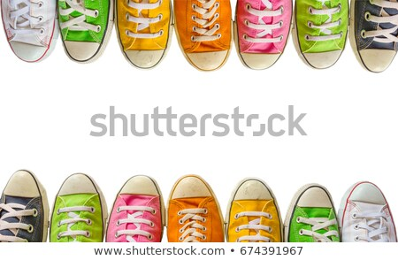 Variety of the colorful sneakers Stock photo © vlad_star