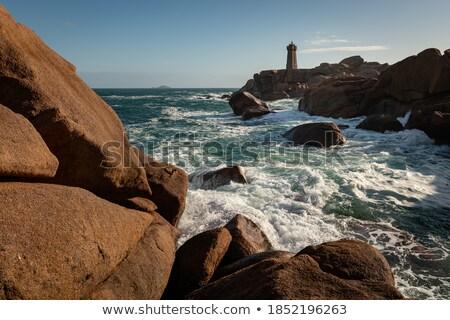 White stone beach on Pink Granite Coast, Brittany, France Stock photo © Xantana