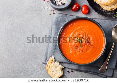 Sopa de tomate salsa de tomate alimentos tomate cocina comedor Foto stock © M-studio