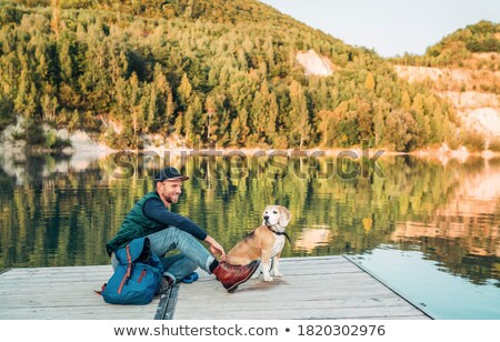 leisure time by the lake Stock photo © raywoo