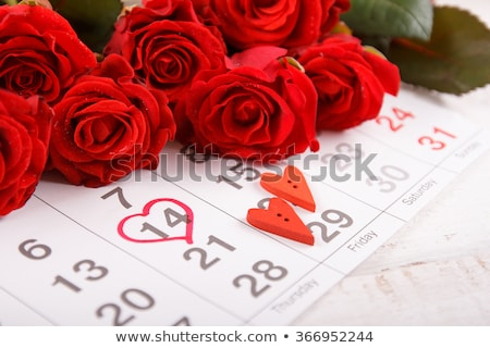 14 sevgililer günü takvim kalp imzalamak tatil Stok fotoğraf © orensila