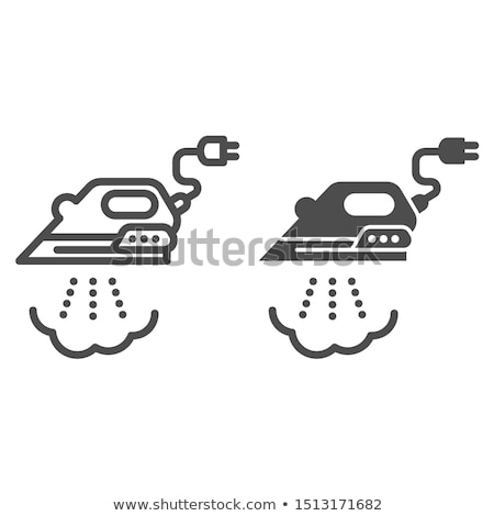 isolated steam iron icon stock photo © barsrsind