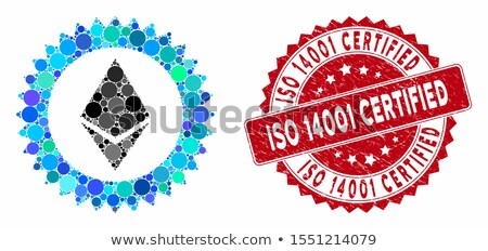 Ethereum Stamp Seal Flat Icon Stock photo © ahasoft