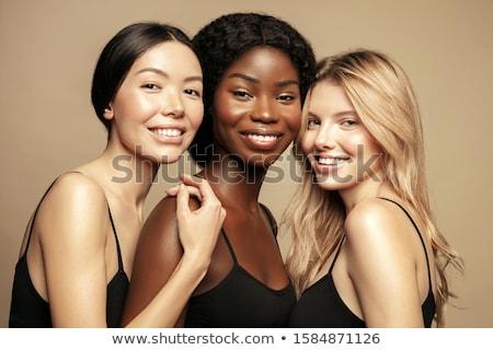 csoport · gyönyörű · modellek · hat · szexi · ül - stock fotó © pilgrimego