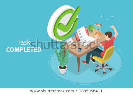 表 · ビジネスマン · 事務用品 · 手紙 · 電卓 · 白 - ストックフォト © tashatuvango