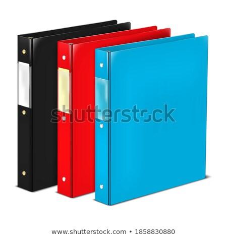 閉店 ファイル ラベル カード クローズアップ 表示 ストックフォト © tashatuvango