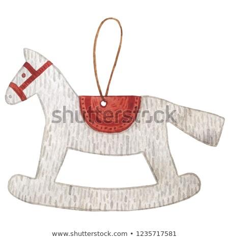 colección · Navidad · objetos · dibujado · a · mano · lápiz · acuarela - foto stock © sonya_illustrations