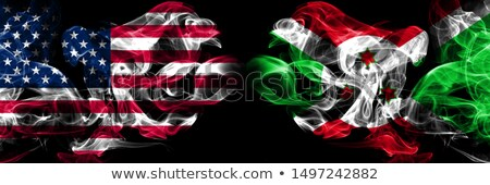 Futebol chamas bandeira Burundi preto ilustração 3d Foto stock © MikhailMishchenko