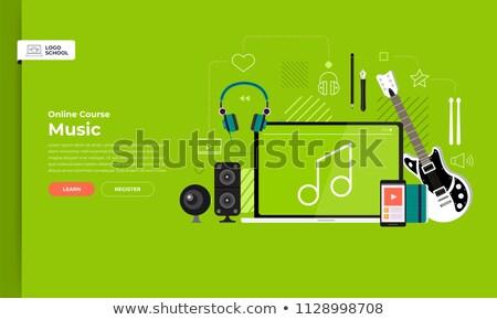 Landing pagina laptop inhoud scherm Stockfoto © tashatuvango