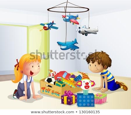 Giovane ragazza giocare giocattolo regali ragazza bambino Foto d'archivio © IS2