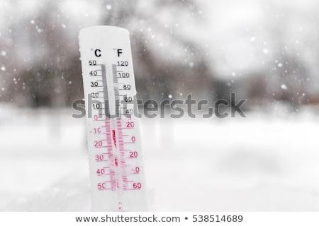 Termometr śniegu niski temperatura ciężki Zdjęcia stock © AndreyPopov