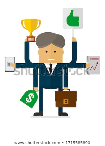 Indian businessman holds suitcase with money Stock photo © studioworkstock