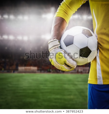 Goal keeper reaching to save ball Stock photo © IS2