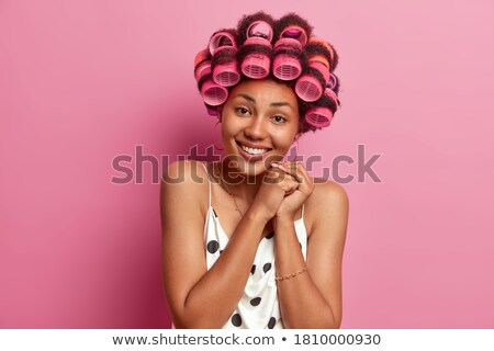 One pink hair roller Stock photo © IS2