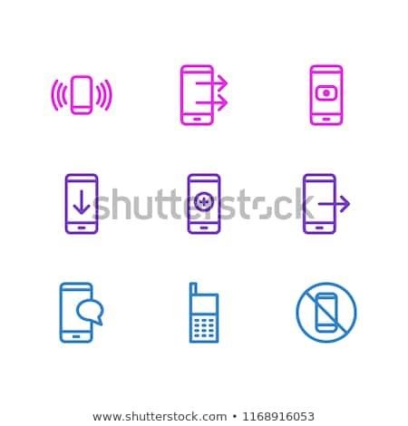 Feltöltés ikon vonal stílus számítógép internet Stock fotó © taufik_al_amin