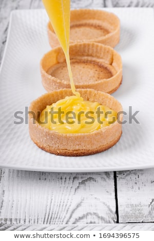 Process of making shortbread tartlet  Stock photo © Melnyk