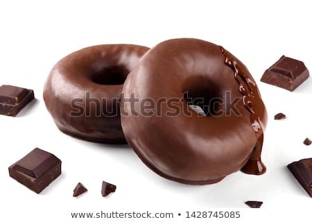 cioccolato · ciambella · isolato · bianco · alimentare · rosso - foto d'archivio © bdspn