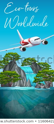 Eco tours worldwide plane scene Stock photo © bluering