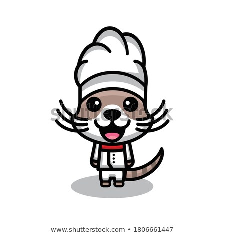 Cartoon Angry Kitten Top Hat Stock photo © cthoman