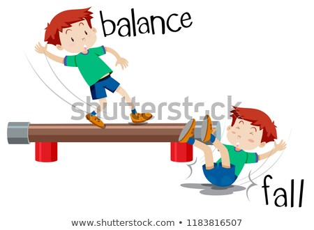 A boy comparison of balance and fall Stock photo © bluering