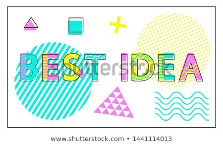 meilleur · idée · ampoule · orange · pense · électriques - photo stock © robuart