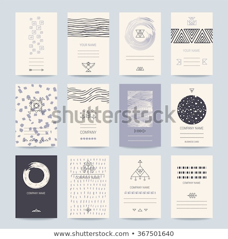 Creative Business Banners with Linear Decor Icons Stock photo © robuart