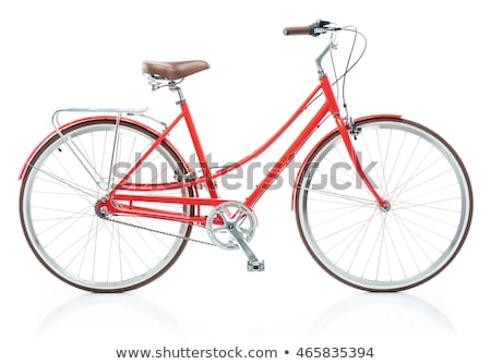 Stylish womens red bicycle isolated on white Stock photo © vlad_star