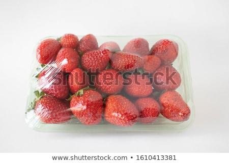 műanyag · tálca · konténer · friss · organikus · egészséges - stock fotó © DenisMArt