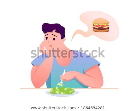 漫画 退屈 フィットネス 男 見える ストックフォト © cthoman