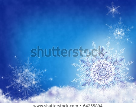 Christmas Background Crystal Snowflakes Stock photo © kostins