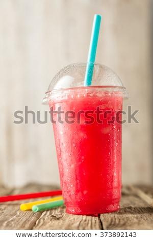 verano · fresa · sorbete · beber - foto stock © Illia