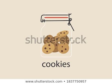 eigengemaakt · biscuits · noten · rozijnen · witte · plaat - stockfoto © grafvision