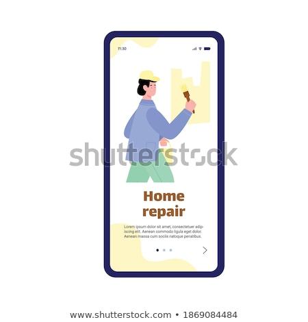 Painter Decorator Handyman Phone Concept Stock photo © Krisdog