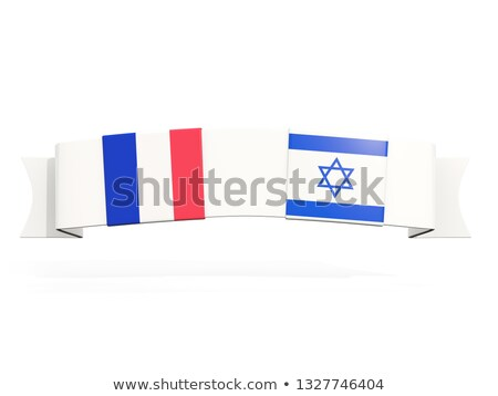 Banner with two square flags of France and israel Stock photo © MikhailMishchenko