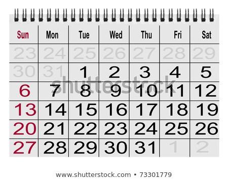 Calendario compito icona cerchio riunione tempo Foto d'archivio © smoki