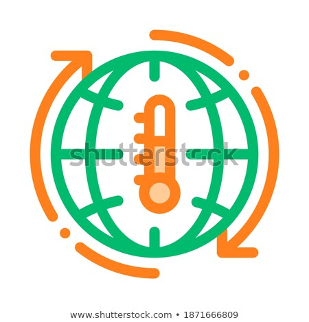High Temperature Problem Vector Thin Line Icon Stock photo © pikepicture