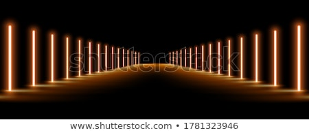 vip neon lights entrance way background Stock photo © SArts