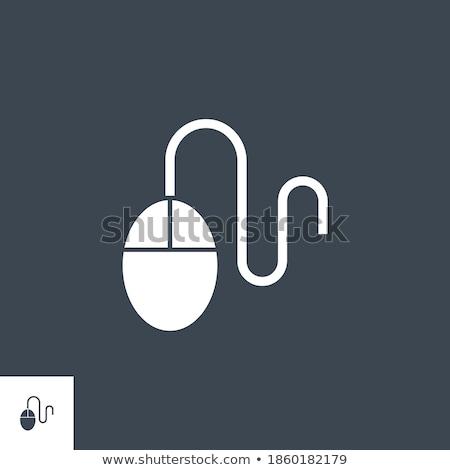 Bilgisayar fare vektör ikon yalıtılmış beyaz çalışmak Stok fotoğraf © smoki