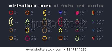 ayarlamak · simgeler · meyve · suyu · yalıtılmış · beyaz · su - stok fotoğraf © decorwithme