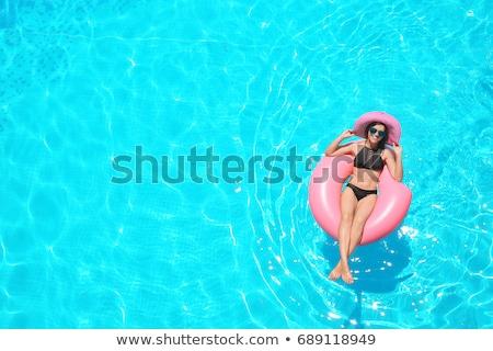 Felfújható cső lebeg úszómedence napos idő Stock fotó © wavebreak_media