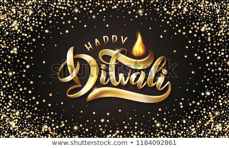 black and gold happy diwali banner with text space stock photo © sarts