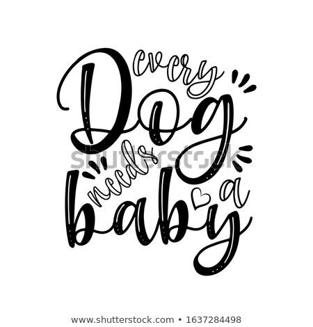 Cão bebê engraçado vetor provérbio Foto stock © Zsuskaa